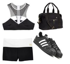 """My First Polyvore Outfit"" by amjad-mohammad ❤ liked on Polyvore featuring H&M, This Is a Love Song, Victoria's Secret and adidas"