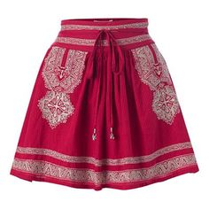 Embroidered skirt, New Look