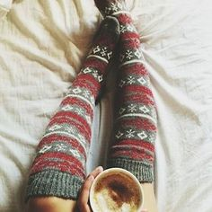 sweaters and fuzzy socks