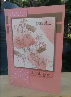 Stampin' Up! Happy Watercolor; Sweet Sunday Blog