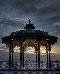 The Brighton Bandstand, also known as The Birdcage and the Bedford Square Bandstand was designed by Phillip Causton Lockwood in 1883.