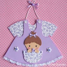 Doce Arte by Pati Guerrato: baby Baby Shower Crafts, Girl Baby Shower Decorations, Baby Boy Shower, Shower Gifts, Foam Crafts, Diy And Crafts, Paper Crafts, Baby Mini Album, Baby Girl Cards