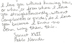 Sonnet XVII- Pablo Neruda