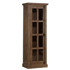 Hillsdale Furniture Tuscan Retreat Tall Single Door Cabinet in Aged Gray - The Home Depot Modular Cabinets, Wooden Cabinets, Glass Panel Door, Glass Cabinet Doors, Cottage Furniture, Grey Furniture, Tall Pantry Cabinet, White Beadboard, Modern Craftsman