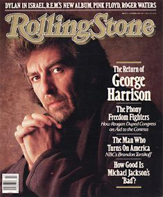 George Harrison on the cover of Rolling Stone