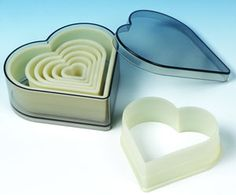7 Piece Heart Nylon Cutter Set - Item #702065