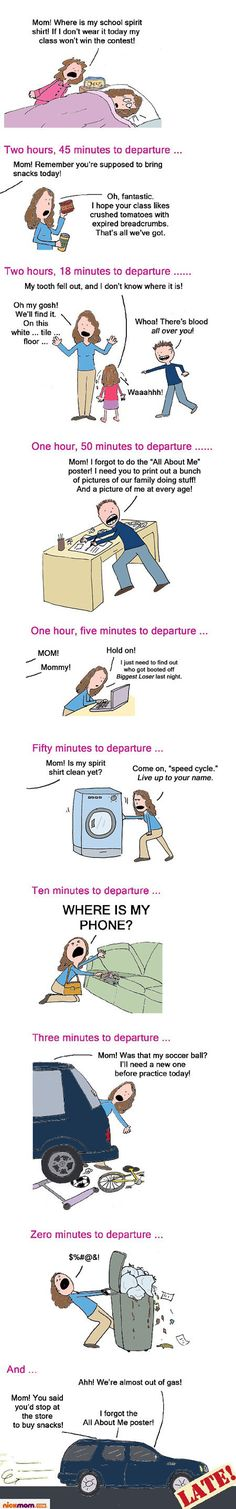 How Your Kids Can Wake Up at 4:45 a.m. and Yet You're STILL Late Getting Out the Door | More LOLs & Funny Stuff for Moms | NickMom