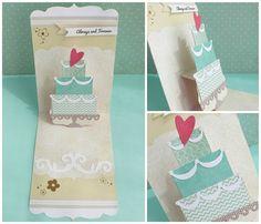 cafe creativo - big shot sizzix - card wedding pop up (4)