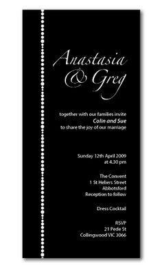 modern wedding invitations black