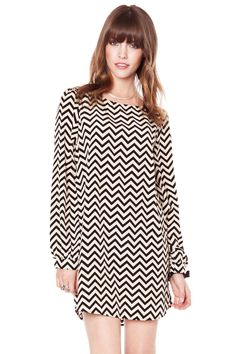 Love this dress! ShopSosie Style : Zig zag shift dress
