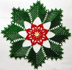 Bom dia amigas lindo gráfico de toalhinha em crochê ótimaideia para o natal....