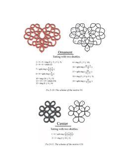 tatting lace motif
