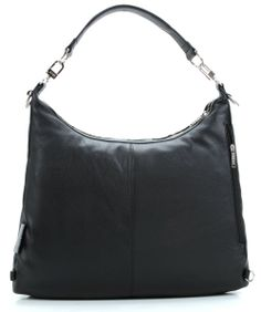 Brigitte 6 Hobo Leather black 43 cm (Converts to a backpack)