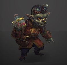 Character design for a scientist goblin Fantasy Character Design, Character Concept, Character Inspiration, Character Art, Dungeons And Dragons Characters, Dnd Characters, Fantasy Characters, Steampunk Artwork, Steampunk Theme
