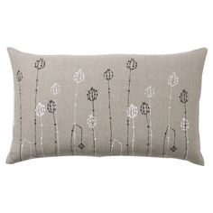 Found it at AllModern - Poppy Pods Pillow in Gray  ~~  embroidered pillow idea