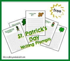 FREE St. Patrick's Day writing prompts!  #education #homeschool