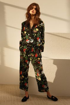 A head to toe floral look.