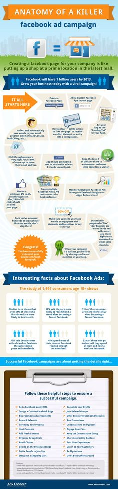 If you're looking for advice on how to create a killer Facebook Ad, make sure you check out this excellent infographic below!