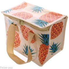 Mini-Glaciere-ANANAS-Sac-a-Gouter-ISOTHERME-Tropical-Pineapple-Lunch-Bag