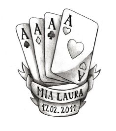 Aces - Tattoo Flash Tattoo Flash Art, Flash Tattoos, Ace Tattoo, Tattoo Illustration, Art Sketches, Outline, My Photos, Tattoo Designs, Ink