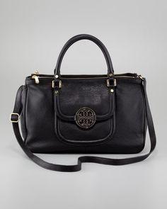 Amanda Double-Zip Tote Bag, Black by Tory Burch at Neiman Marcus.