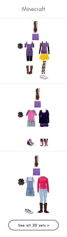"""""""Minecraft"""" by hello-alex106 ❤ liked on Polyvore featuring beauty, Jaeger, Tt Collection, LE3NO, Arden B., Converse, Biba, Avery, sass & bide and 7 For All Mankind"""