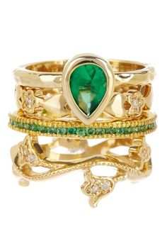 Beyond Rings La Foret Verte Ring Set by Just Jewelry: Blowout Event on @HauteLook