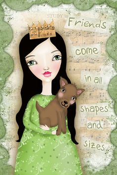 Friends Come in All Shapes and Sizes - Fine Art Print. £12.00, via Etsy.