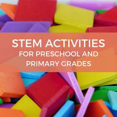 STEM Lessons for Preschool & Primary Grades: Hands-on Approach to Learning