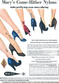 "1952 Macy's ad for ""Come-Hither Nylons"""
