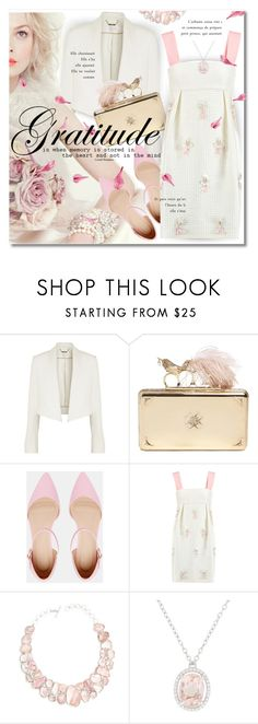 """Graduation Day Dress"" by petri5 ❤ liked on Polyvore featuring Chloé, Alexander McQueen, ASOS, Mother of Pearl and Poppy Jewellery"