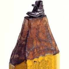 Pencil sculptures by Dalton Dhetti.