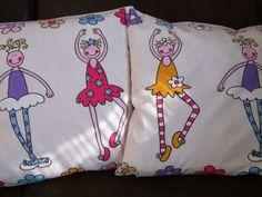 I jeszcze jeden pomysł na poduszki, w sam raz dla małej księżniczki, która kocha tańczyć:)