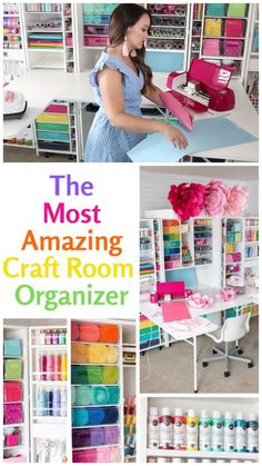 Organization Ideas videos DreamBox Craft Room Makeover - Sweet Red Poppy Create a perfectly organized craft room with the DreamBox organizer from the Orginial Scrapbox. Organize crafts, sewing, Cricut supplies, paint and so much more! Craft Room Storage, Craft Organization, Craft Storage Solutions, Scrapbook Organization, Organizing Sewing Rooms, Organizing Ideas For Office, Home School Organization, Ikea Sewing Rooms, Pegboard Craft Room