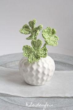 Kleeblatt, Glücksklee, Häkelanleitung, Tutorial, luck, clover tutorial, crochet tutorial,