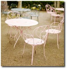 Outdoor Painted Furniture