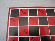 CHECKER MATH -READ RULES HERE: http://www.mathfilefoldergames.com/checker-math/