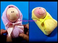 BEBES DE TOALLA / Baby Shower Souvenir / Baby Towel DIY - YouTube