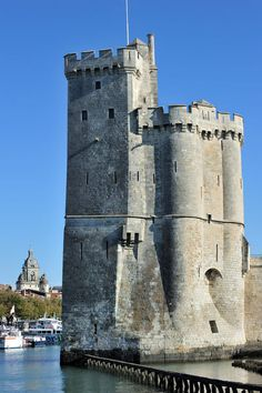 The medieval tower St. Nicolas at La Rochelle, Charente Maritimes, France.  Go to www.YourTravelVideos.com or just click on photo for home videos and much more on sites like this.