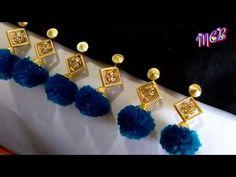 MCB's for fancy Sarees/Heavy dupatta II pom pom tessels/kuchu II with easy method II Heavy Dupatta, Saree Kuchu Designs, Saree Tassels, Fancy Sarees, Polymer Clay Jewelry, Stone Beads, Round Beads, Knots, Stitches