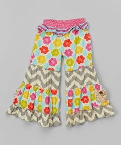 Love this Pink Fruity Pixie Ruffle Pants - Infant, Toddler & Girls on #zulily! #zulilyfinds