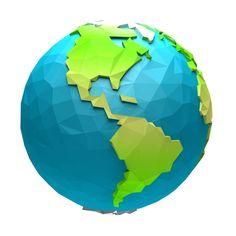 Earth 3d, Space Planets, 3d Cartoon, 3d Models, 3d Max, Low Poly, Texture, World, Design