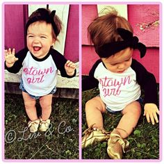 Uptown Girl, Funny Girl T Shirt for baby, toddler, & kid girls, Baby Shower Gift, Unique apparel, Tee shirts, Clothes, Clothing, Liv & Co. - Liv & Co.