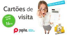 Imprima seus cartões de visita na Papira, produção em 01 dia útil, confira nossos preços:  www.papira.com.br/cartao-de-visita.html
