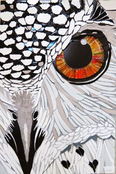 Fernanda Jaton- En la noche ツ Mosaic Crafts, Mosaic Projects, Stained Glass Projects, Art Projects, Owl Mosaic, Mosaic Birds, Mosaic Glass, Mosaic Wall, Glass Art