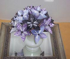 Paper flower center piece