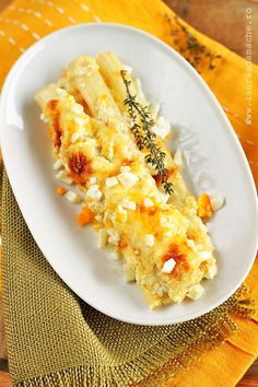 white asparagus au gratin (recipe in romanian)