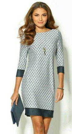 18 Fabulous Ideas of Women 's Clothing Combinations 2018 - Frauen Mode Work Fashion, Fashion Beauty, Womens Fashion, Indian Fashion, Style Désinvolte Chic, Casual Dresses, Fashion Dresses, Office Dresses, Short Dresses