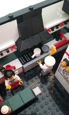 Lego, Chinese restaurant interior.