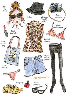 What I didn't wear today..hipster uniform :)  illustration by Mangomini